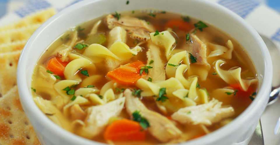 can you eat chicken noodle soup after tooth extraction