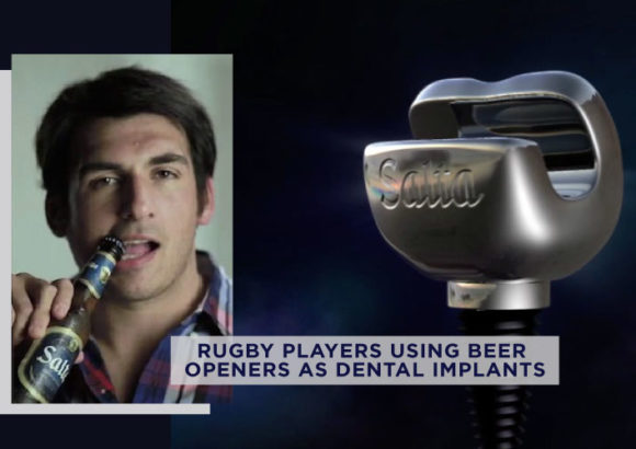 Rugby Players Replacing their Missing Teeth with Bottle Openers