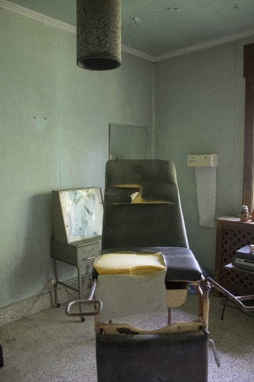 abandoned dental chair