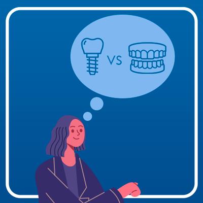 Why should I get dental implants instead of dentures?